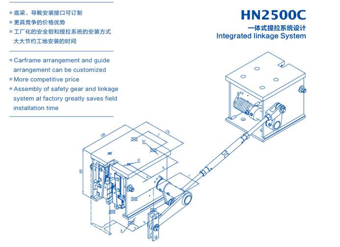HN2500C(单/双提拉)渐进式安全钳